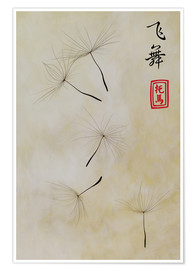 Póster Fei Wu - dancing in the wind