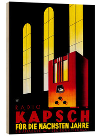 Cuadro de madera  Kapsch Radio - For the next few years - Advertising Collection