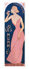 Póster  Champagne Jules Mumm - Maurice Realier-Dumas