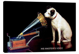 Lienzo  Victor Grammophon   His master's voice