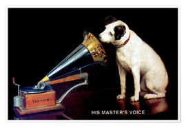 Póster  Victor Grammophon   His master's voice