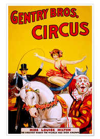 Póster Gentry Bros  Circus