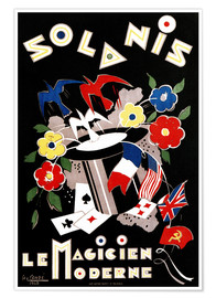 Póster Geo Conde Solanis, the modern magician