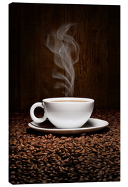 Lienzo  Coffee cup bean aroma - pixelliebe