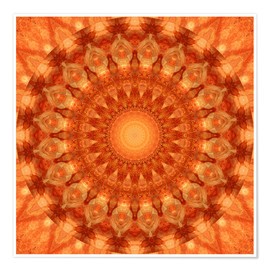 Póster  Mandala orange - Christine Bässler