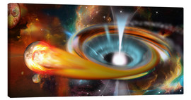 Lienzo  Black hole with Pulsar, universe, galaxy - Kalle60
