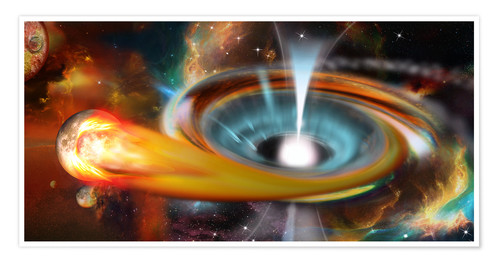 Póster Black hole with Pulsar, universe, galaxy