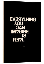 Cuadro de madera  PABLO PICASSO - Everything you can imagine is real - THE USUAL DESIGNERS