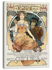 Lienzo  St. Louis World's Fair 1904 - Alfons Mucha