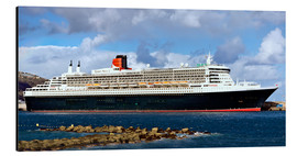 Cuadro de aluminio  Queen Mary 2 in the port of La Palma - MonarchC