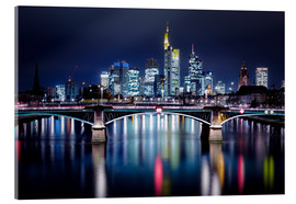 Cuadro de metacrilato  Frankfurt Skyline night - Frankfurt am Main Sehenswert