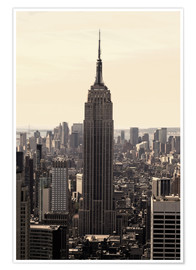 Póster  Empire State Building Vintage - Buellom