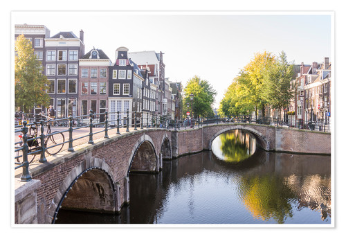 Póster Amsterdam canals