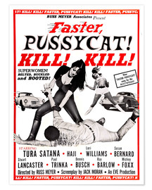Póster Faster, Pussycat!