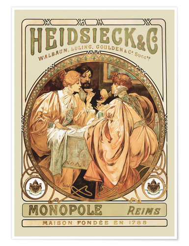 Póster Champagne Heidsieck