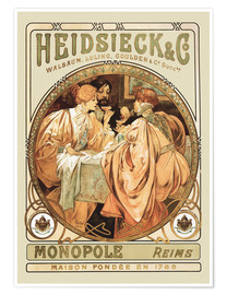 Póster  Heidsieck Champagne - Alfons Mucha