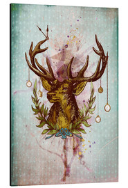 Cuadro de aluminio  Oh Deer, is that the time? - Sybille Sterk