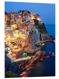 Cuadro de PVC  Manarola in the evening - Matteo Colombo