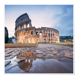 Póster Colosseum reflected into water