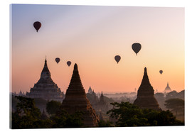 Metacrilato  Balloons and temples, Bagan - Matteo Colombo
