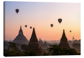 Lienzo  Balloons and temples, Bagan - Matteo Colombo