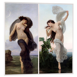 Cuadro de metacrilato  Crepúsculo y Aurora - William Adolphe Bouguereau
