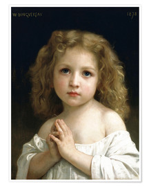 Póster  The Prayer - William Adolphe Bouguereau