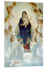 Cuadro de PVC  La Virgen con ángeles - William Adolphe Bouguereau