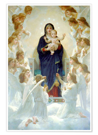 Póster  The Virgin with Angels - William Adolphe Bouguereau