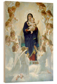 Cuadro de madera  La Virgen con ángeles - William Adolphe Bouguereau