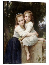 Cuadro de aluminio  Two sisters - William Adolphe Bouguereau