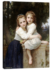 Lienzo  Two sisters - William Adolphe Bouguereau