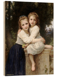 Cuadro de madera  Two sisters - William Adolphe Bouguereau