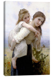 Lienzo  Not hard to bear - William Adolphe Bouguereau
