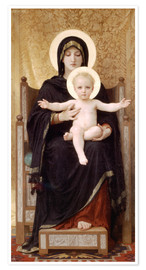 Póster  Virgen y niño - William Adolphe Bouguereau