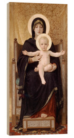Cuadro de madera  Virgen y niño - William Adolphe Bouguereau
