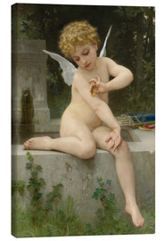Lienzo  Cupid with butterfly - William Adolphe Bouguereau