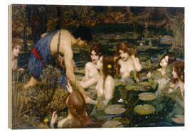 Cuadro de madera  Ninfas - John William Waterhouse