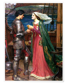 Póster  Tristán e Isolda - John William Waterhouse