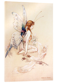 Cuadro de metacrilato  The fairies brought her a pretty pair of wings - Warwick Goble