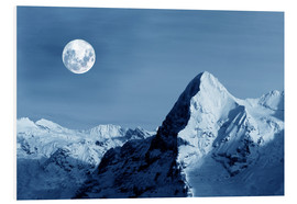 Cuadro de PVC  Full moon on the Eiger - Gerhard Albicker