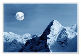 Póster Full moon on the Eiger
