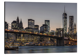 Cuadro de aluminio  Brooklyn Bridge /Manhattan - Marcus Sielaff