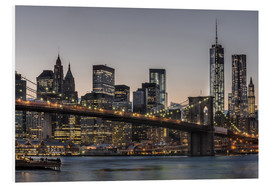 Cuadro de PVC  Brooklyn Bridge /Manhattan - Marcus Sielaff