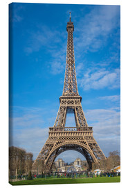 Lienzo  The Eiffel Tower of  Paris - Fine Art Images