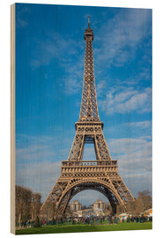 Madera  The Eiffel Tower of  Paris - Fine Art Images