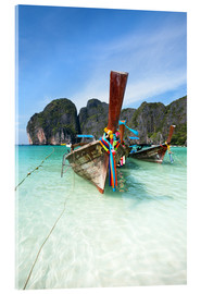 Cuadro de metacrilato  Decorated wooden boats, Thailand - Matteo Colombo