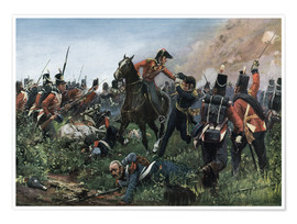Póster Battle of Waterloo 1815