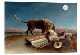 Metacrilato  The Sleeping Gypsy - Henri Rousseau