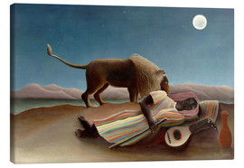 Lienzo  The Sleeping Gypsy - Henri Rousseau